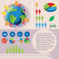 Världen och människorna infografiska