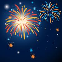 Background design with colorful fireworks