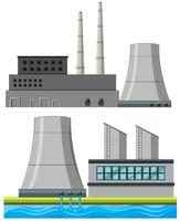 Set of factory buildings vector