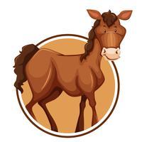 Un caballo en plantilla de etiqueta