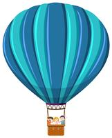 Enfants, monte montgolfière