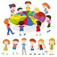Crianças, jogo jogando, junto