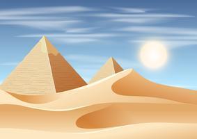 pyramid öken landskap scen