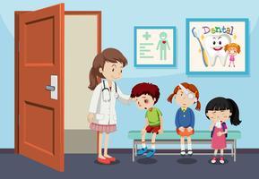 Lesiones infantiles en el hospital.