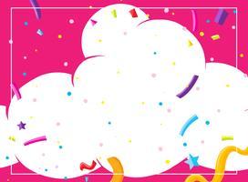 Um modelo de cartão de festa de nuvem rosa