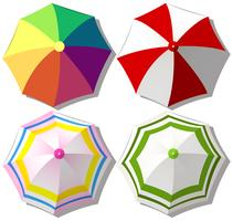 Colorful umbrellas on white