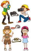 Fotógrafos vector