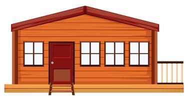 Un extérieur de maison en bois