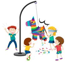 Hit the pinata game vector