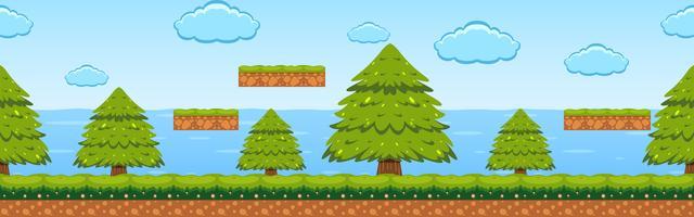 Modelo de jogo na cena da floresta