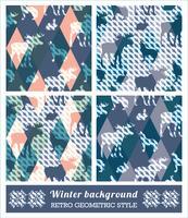 Patrones sin fisuras geométricos de invierno.