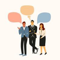 Vectiorillustratie van bureaumensen. Kantoormedewerkers, zakenmensen, managers.