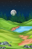 Natureza paisagem à noite