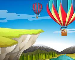 Resa med varmluftsballong