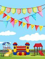 Playground com muitas estações de jogo