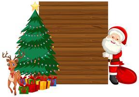 Holz Weihnachten Rahmenkonzept