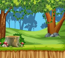 Wood land scape scene vector