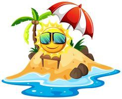 Sol feliz na ilha