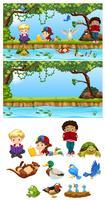 Kinderen in het natuurelement