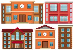 Set of exterior building