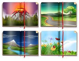 Een set landschapsboek