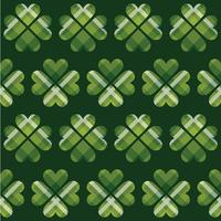 Saint Patrick's Day tartan seamless pattern.  vector