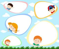 A Template with Happy Kids vector