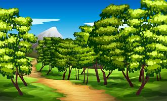 Beautiful green landscape background