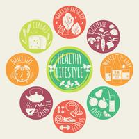 Healthy lifestyle Icons set vector