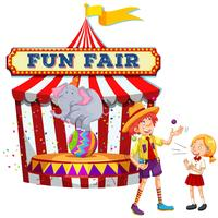 Fun Fair Show on White Background