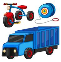 Truck and tricycle toys