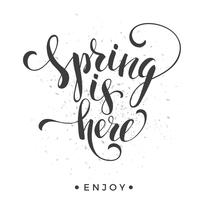 Sping is here. Lettering design.