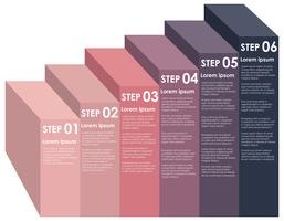 Ascending information step infographic