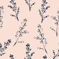 Abstract botanical seamless pattern. Vector herbal background