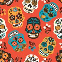 Dia de los muertos. Day of The Dead. Seamless pattern.