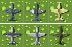 Six designs of military airplane
