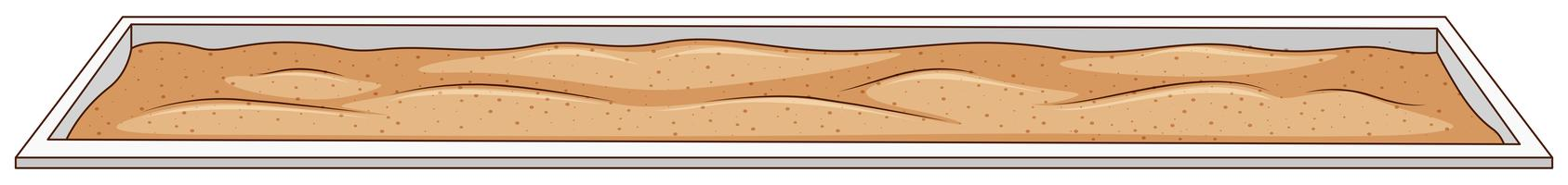 Areia para salto em comprimento