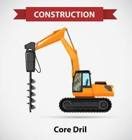 Construction icon with core drill