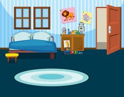 Una plantilla de dormitorio infantil