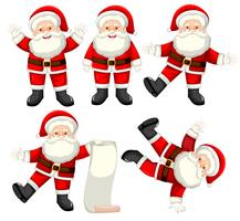 Set of santa claus character