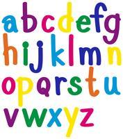 Alfabetos ingleses en muchos colores.