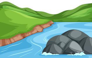 Fondo de paisaje de río de naturaleza