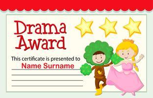 Een drama award certificaat