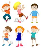 A Set of Angry Kids vector