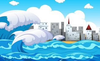 Tsunami met natuurrampen