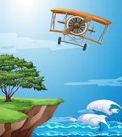 Een classice-vliegtuig op hemel