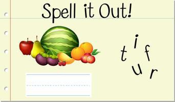 Spell English word fruit