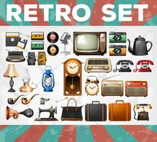Different kind of retro objects