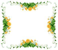Frame ontwerp met gele bloemen