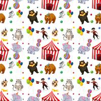 A Seamless circus pattern